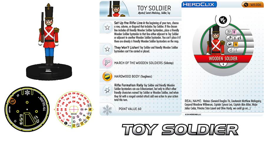 WizKids HeroClix Holiday 2016 Toy Soldier Mini Figure With Card