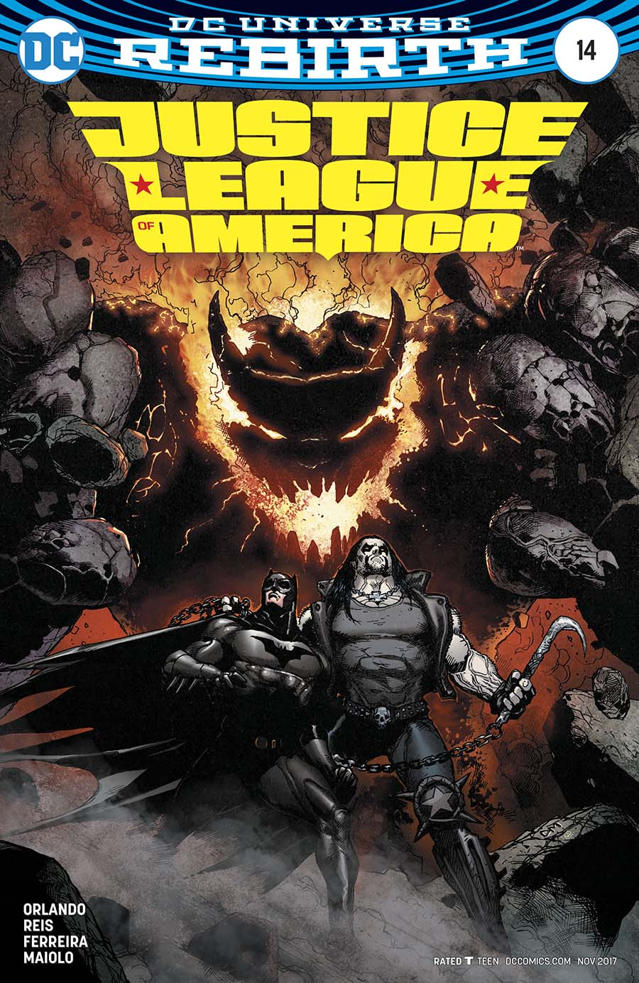 Justice League Of America Vol 5 #14 Cover B Variant Doug Mahnke Cover