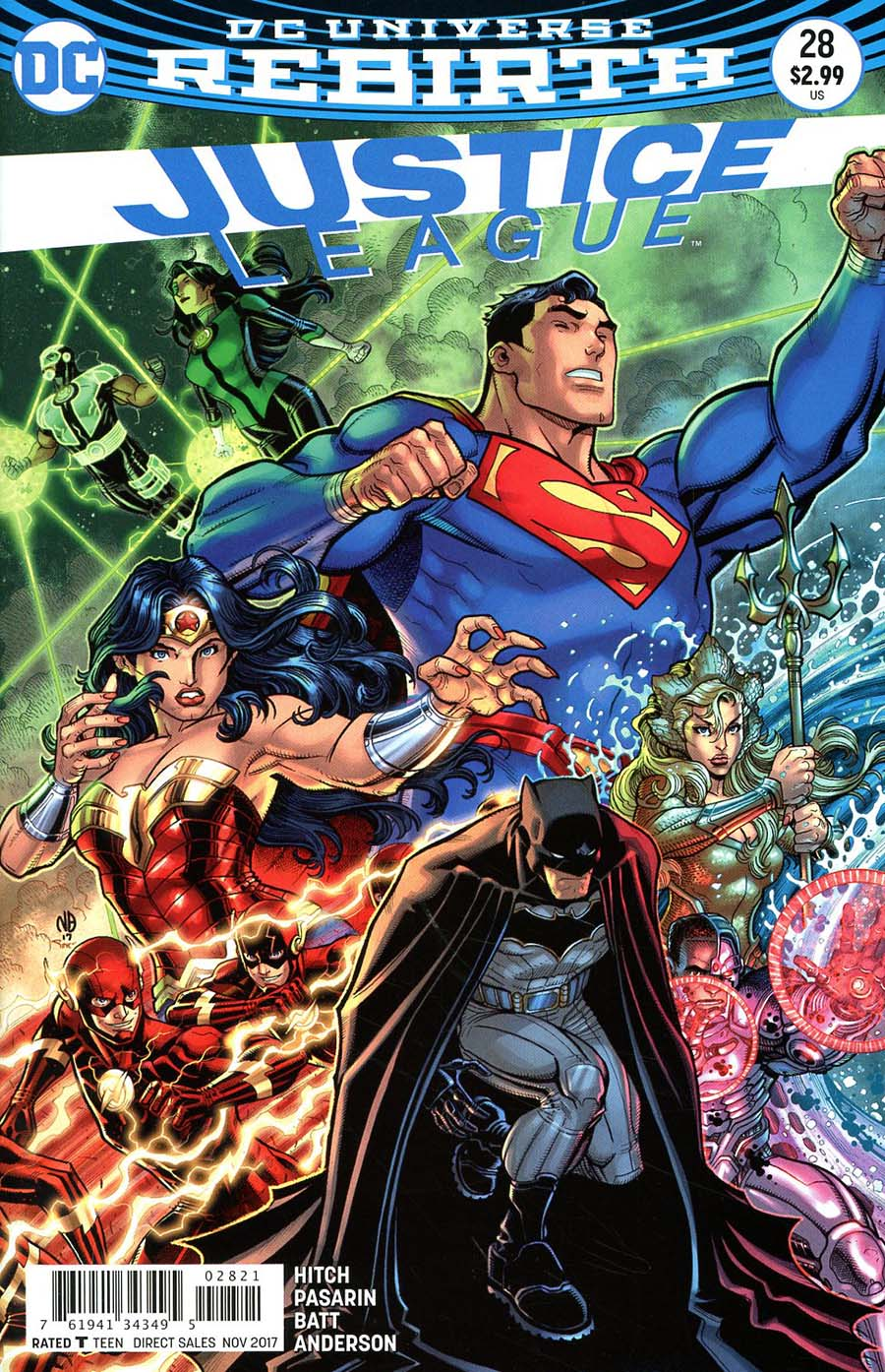 Justice League Vol 3 #28 Cover B Variant Nick Bradshaw Cover
