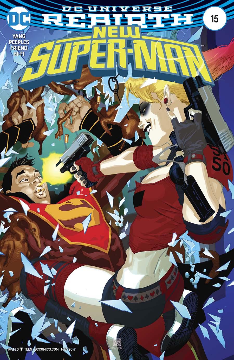 New Super-Man #15 Cover B Variant Bernard Chang Cover