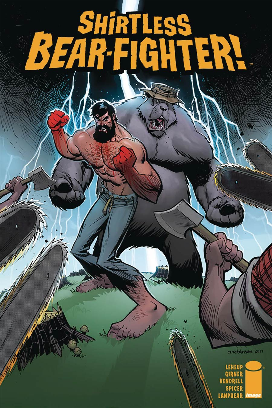 Shirtless Bear-Fighter #4 Cover A Regular Andrew Robinson Cover