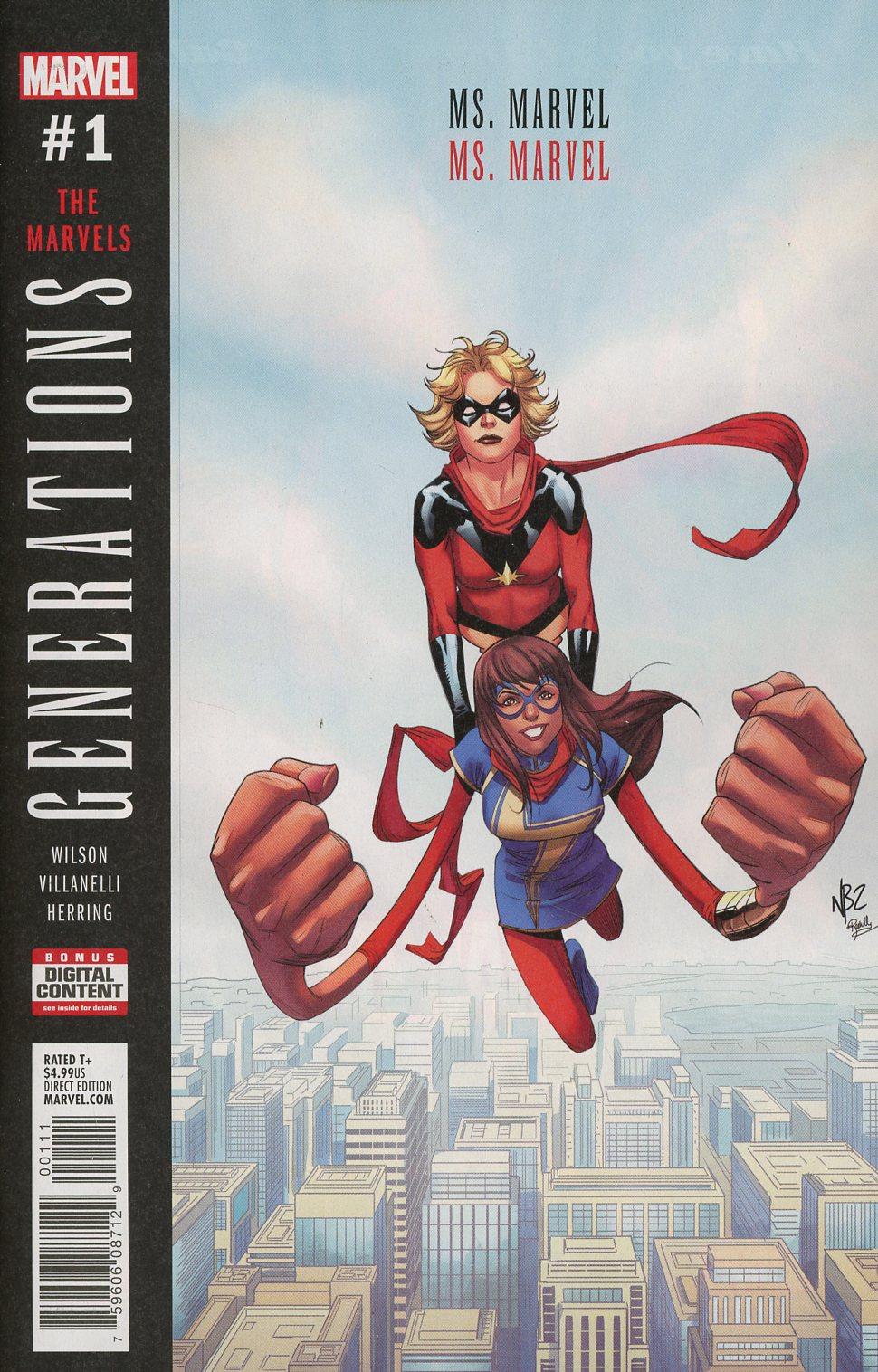Generations Ms Marvel & Ms Marvel #1 Cover A 1st Ptg Regular Nelson Blake II Cover
