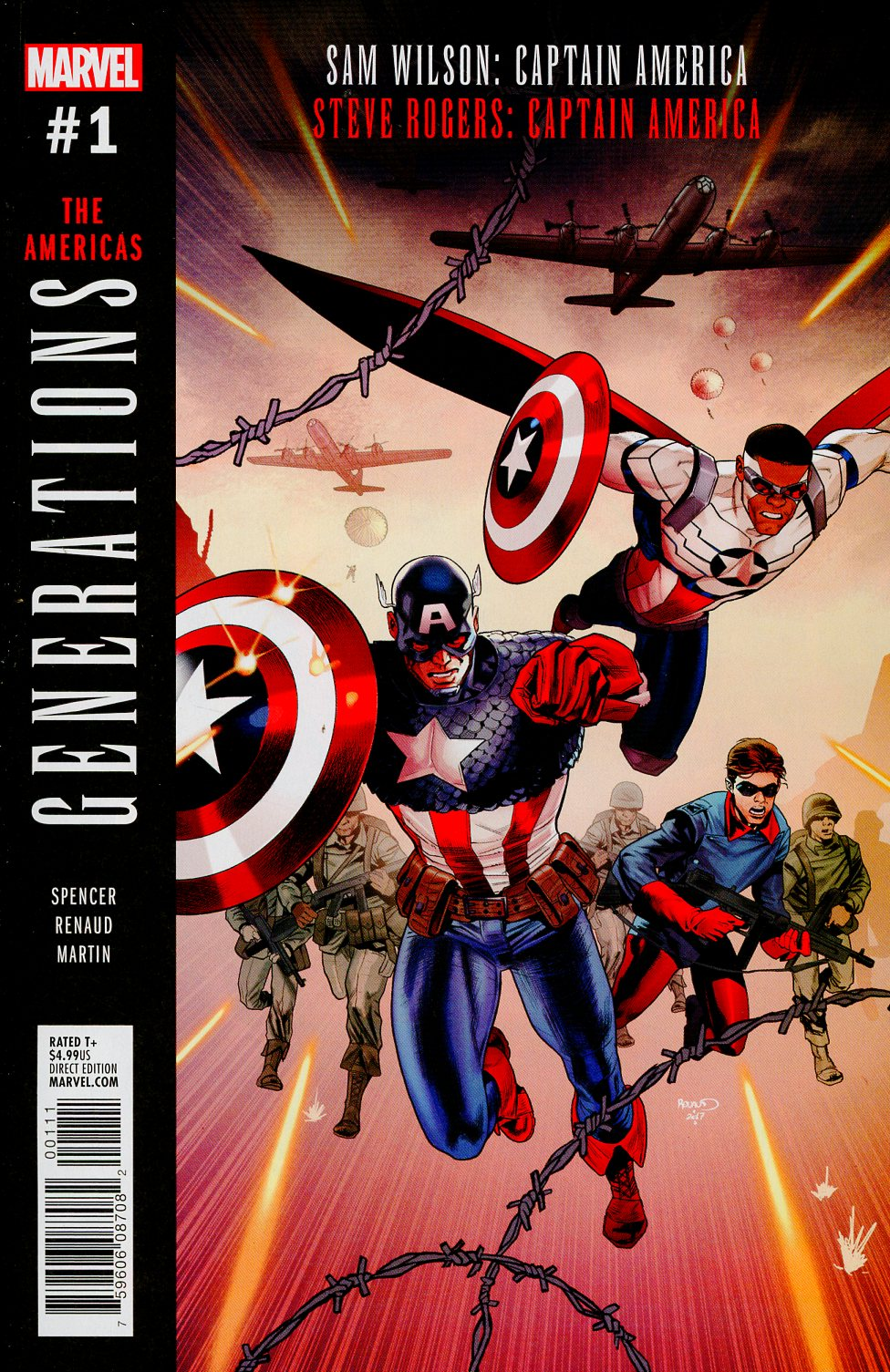 Generations Sam Wilson Captain America & Steve Rogers Captain America #1 Cover A 1st Ptg Regular Paul Renaud Cover