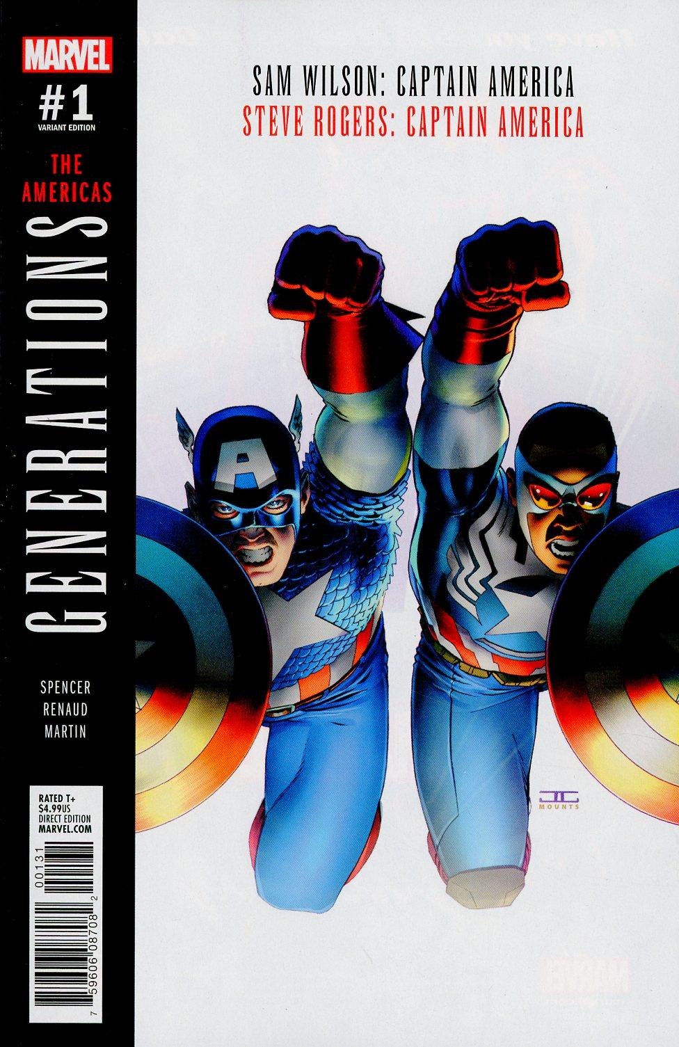Generations Sam Wilson Captain America & Steve Rogers Captain America #1 Cover B Variant John Cassaday Cover