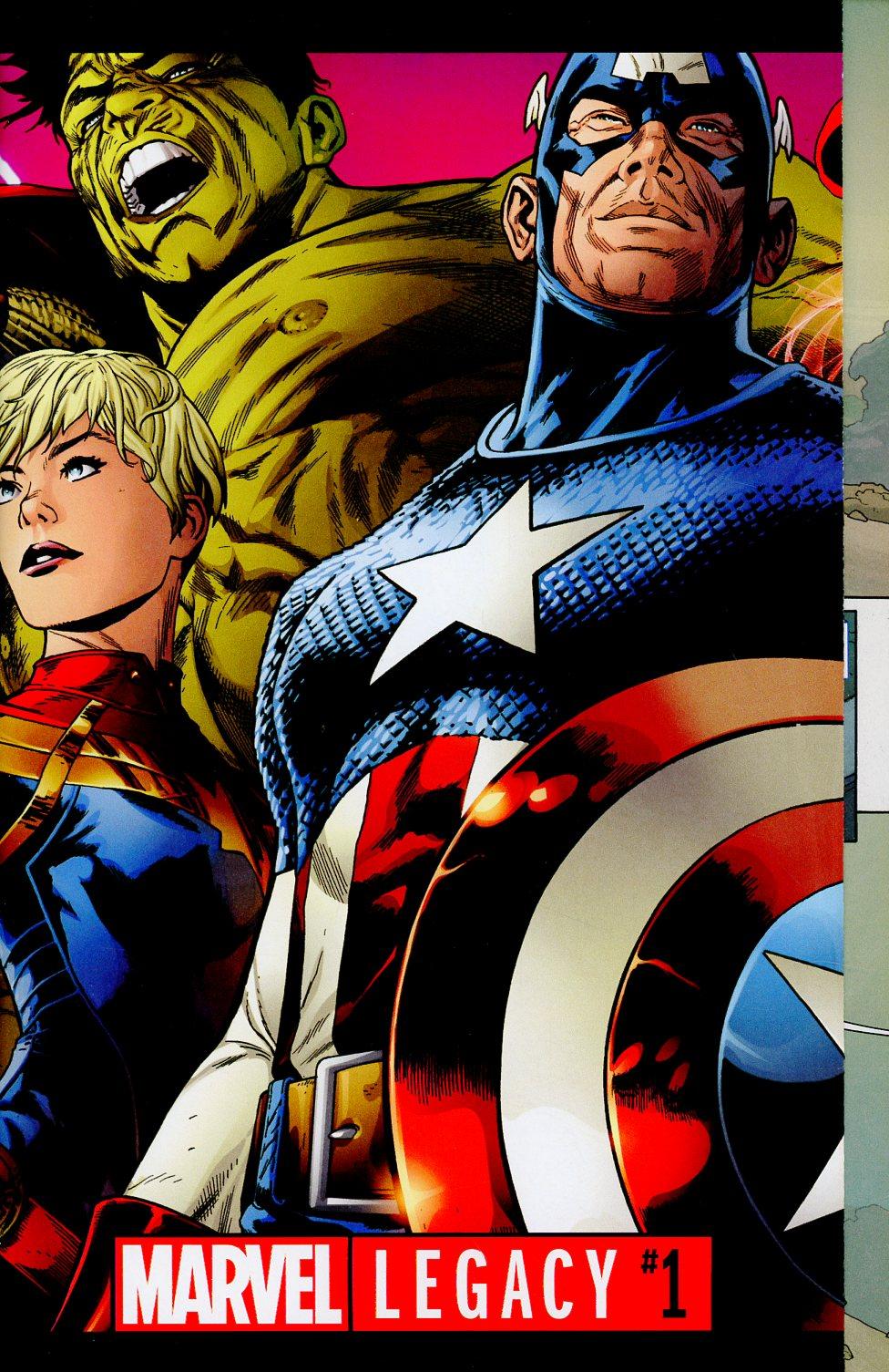 Marvel Legacy #1 Cover A Regular Joe Quesada Double Gatefold Cover