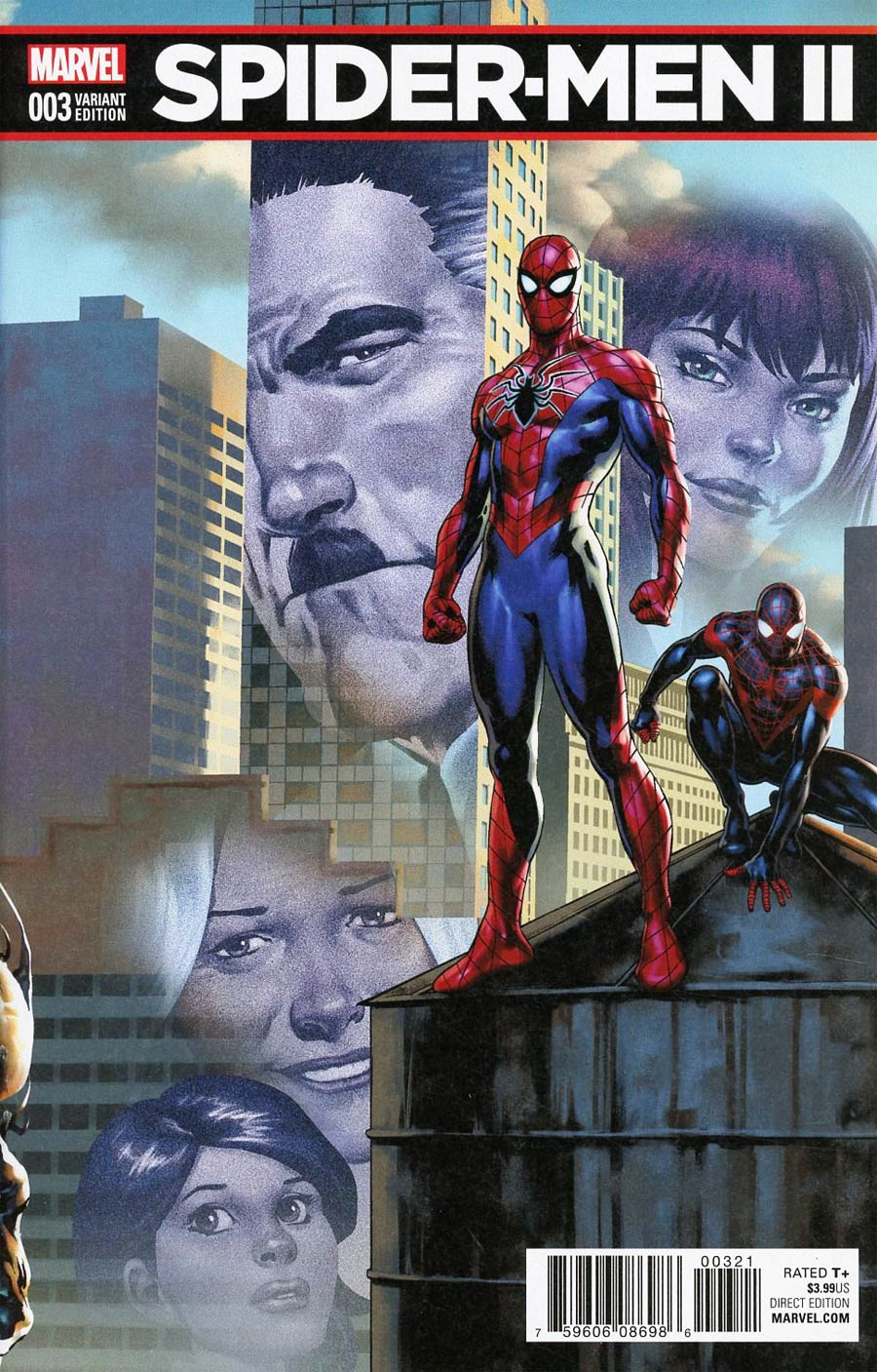 Spider-Men II #3 Cover B Variant Jesus Saiz Connecting C Cover