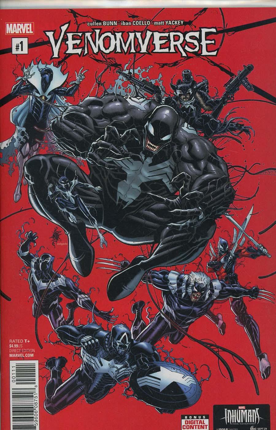 Venomverse #1 Cover A 1st Ptg Regular Nick Bradshaw Cover