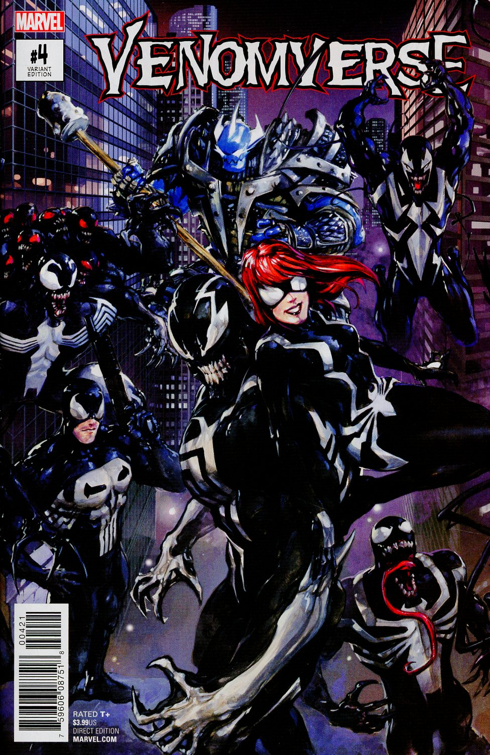 Venomverse #4 Cover B Variant Clayton Crain Connecting Cover