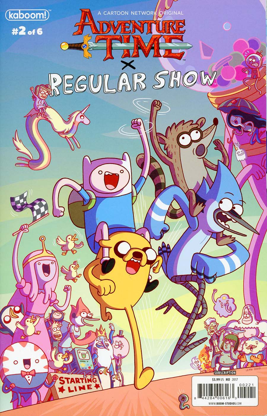 Adventure Time Regular Show #2 Cover C Variant Jason Ho Subscription Cover