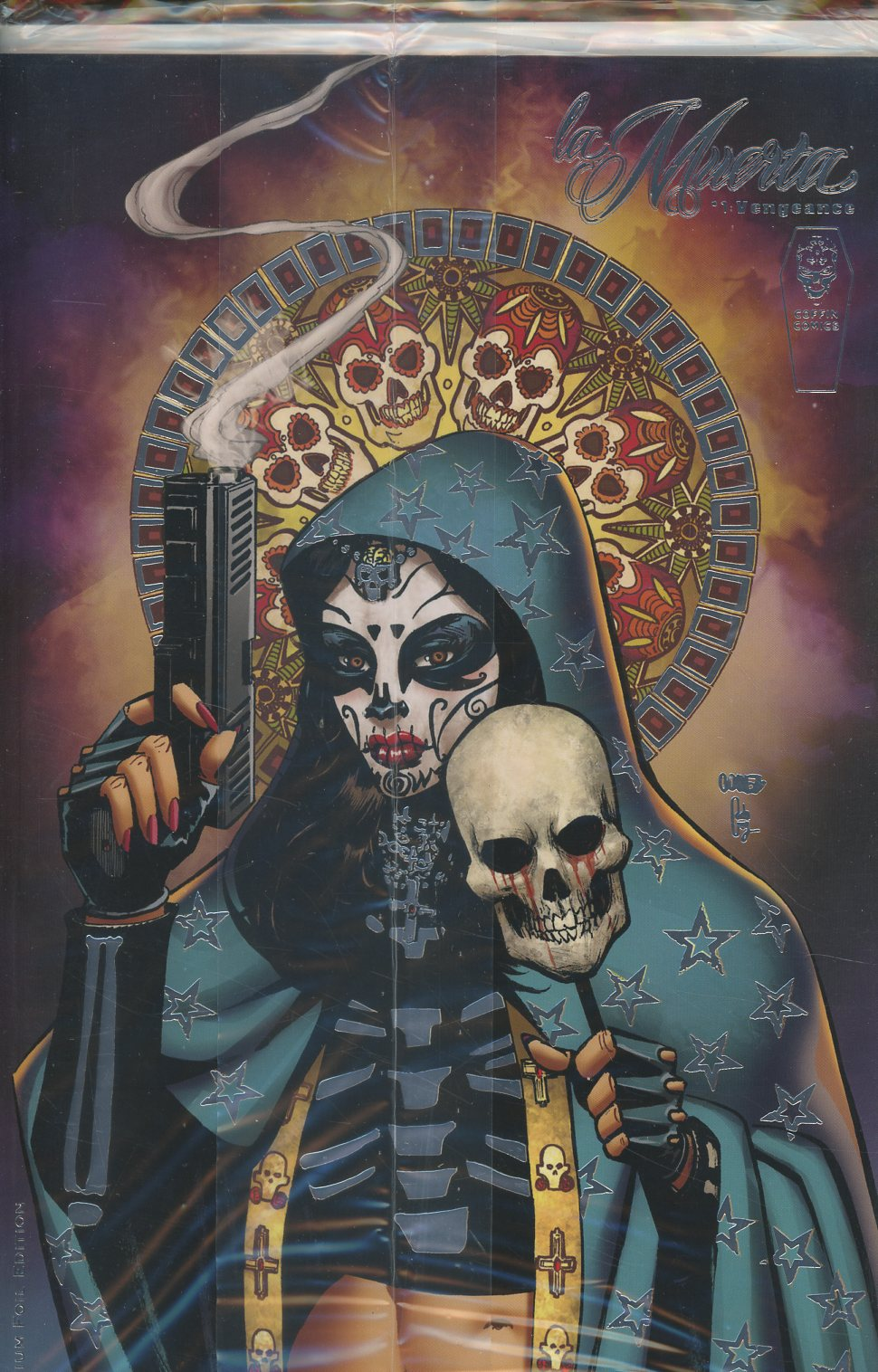 La Muerta Vengeance #1 Cover C Variant Joel Gomez Foil Premium Cover