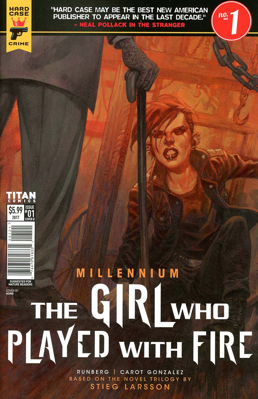 Hard Case Crime Millennium Girl Who Played With Fire #1 Cover B Variant Book Cover
