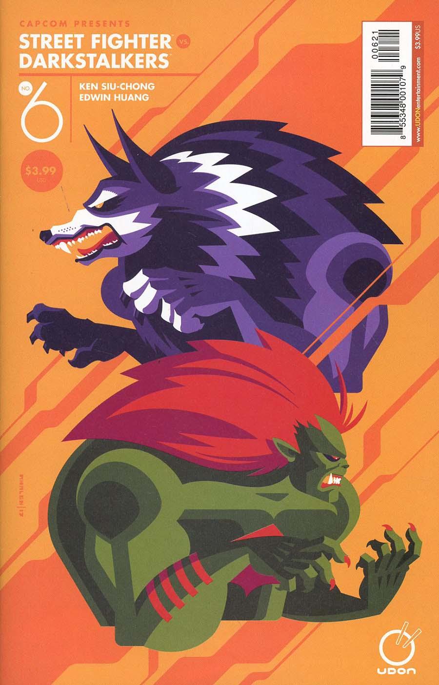 Street Fighter vs Darkstalkers #6 Cover B Variant Tom Whalen Guest Artist Cover