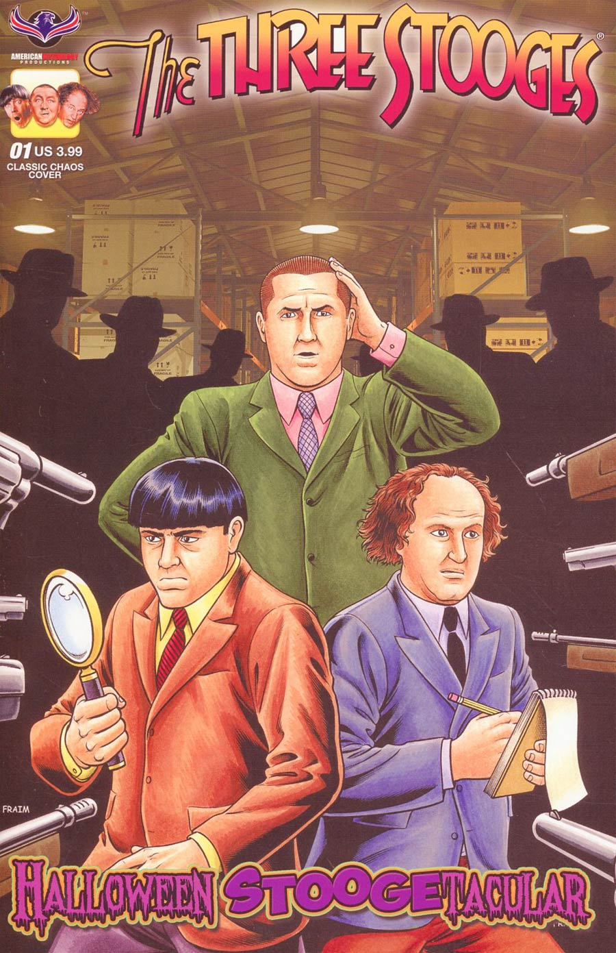 Three Stooges Halloween Stoogetacular Cover B Variant Brendon Fraim & Brian Fraim Framed Cover