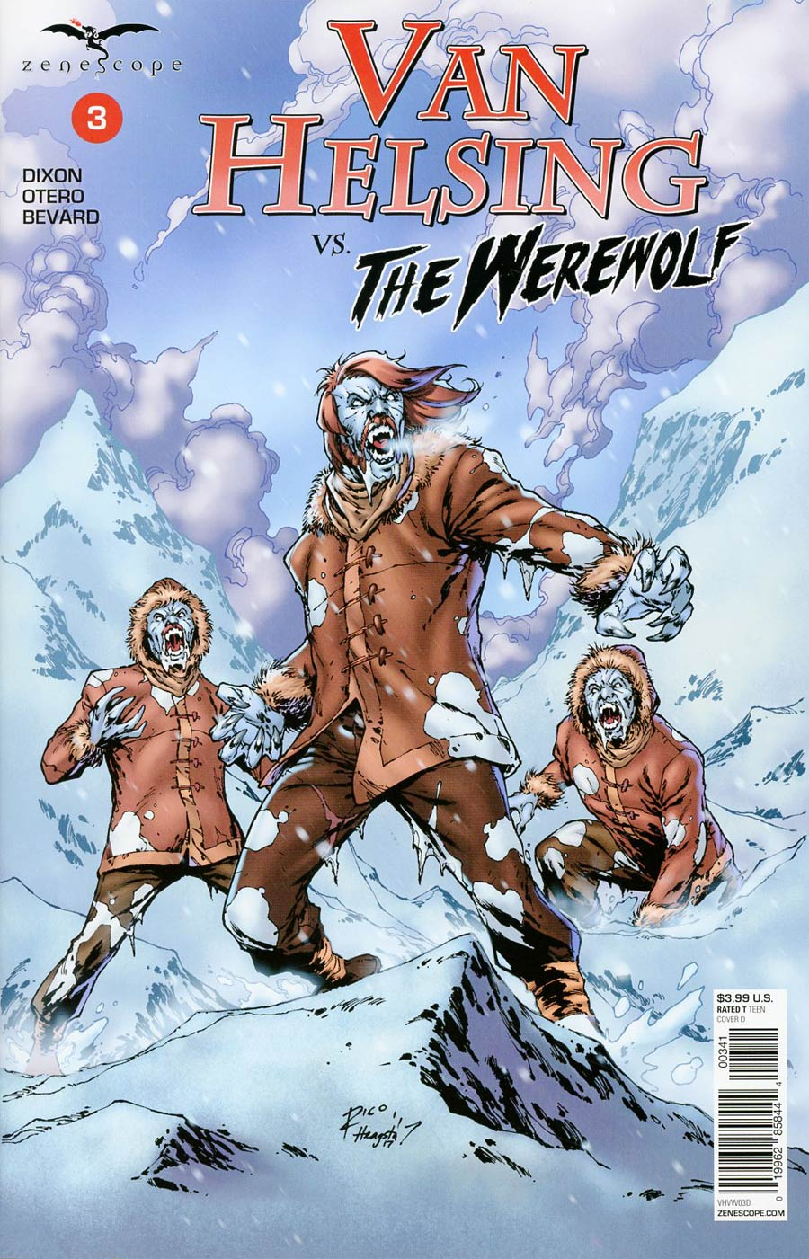 Grimm Fairy Tales Presents Van Helsing vs The Werewolf #3 Cover D Ian Richardson
