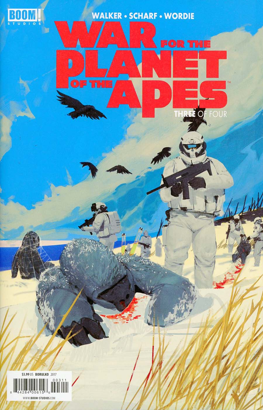 War For The Planet Of The Apes #3 Cover A Regular Mikhail Borulko Cover