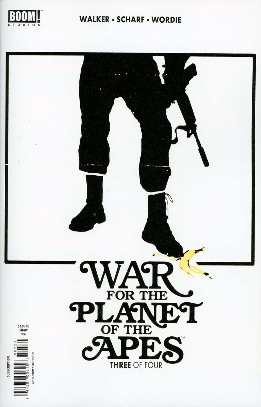 War For The Planet Of The Apes #3 Cover B Variant Jay Shaw Subscription Cover
