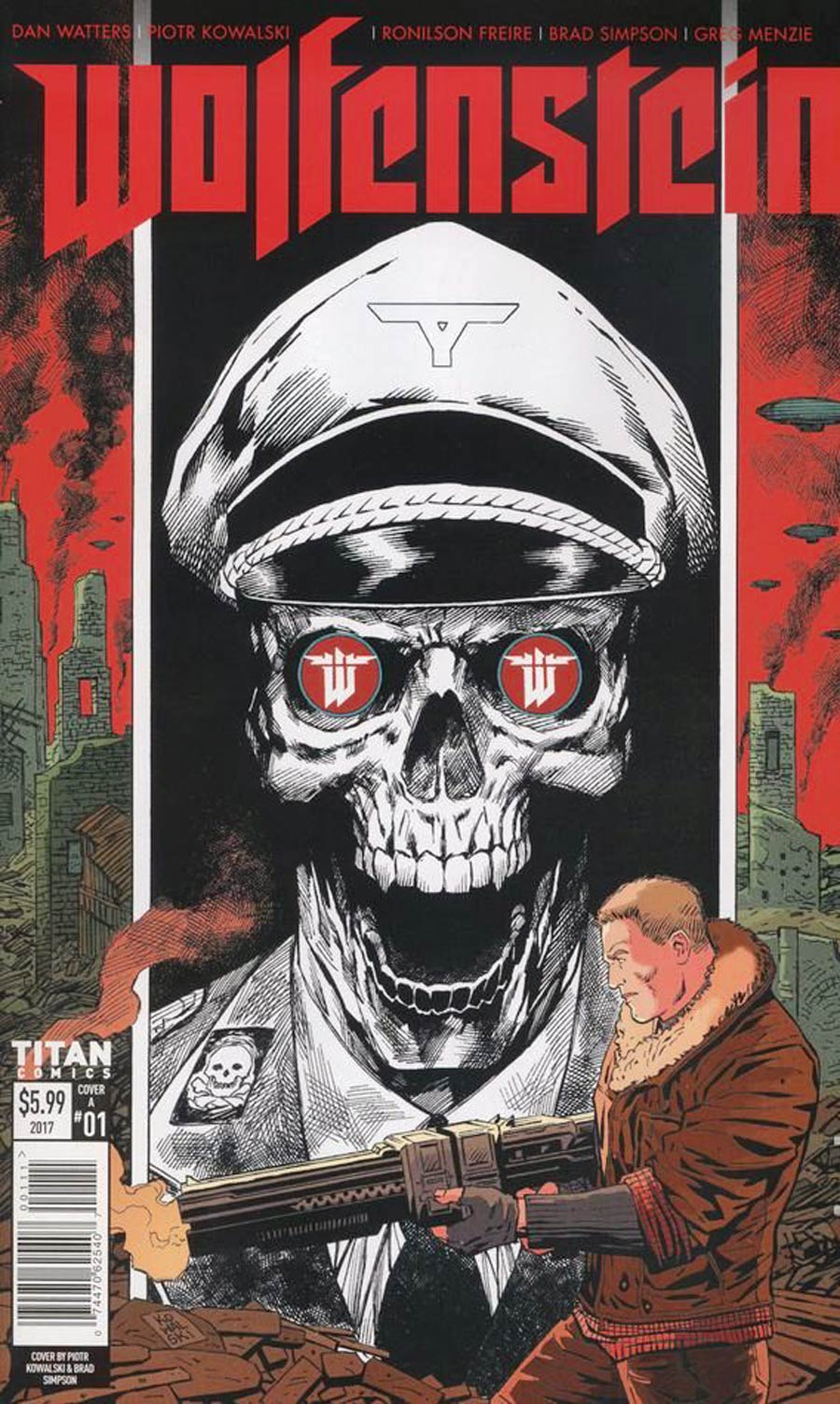 Wolfenstein #1 Cover A Regular Piotr Kowalski Cover