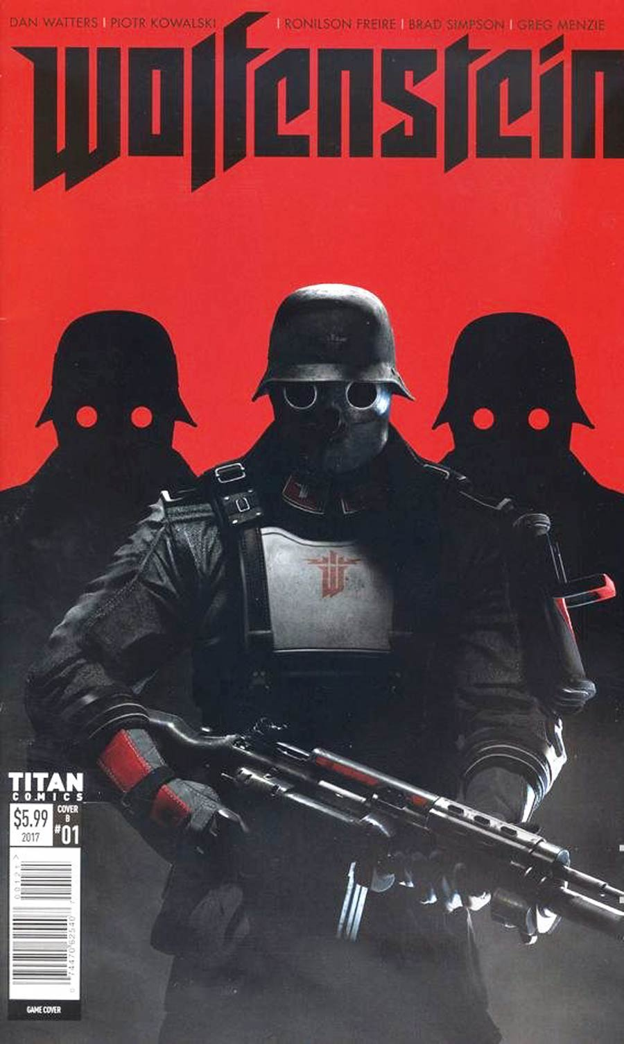 Wolfenstein #1 Cover B Variant Video Game Cover