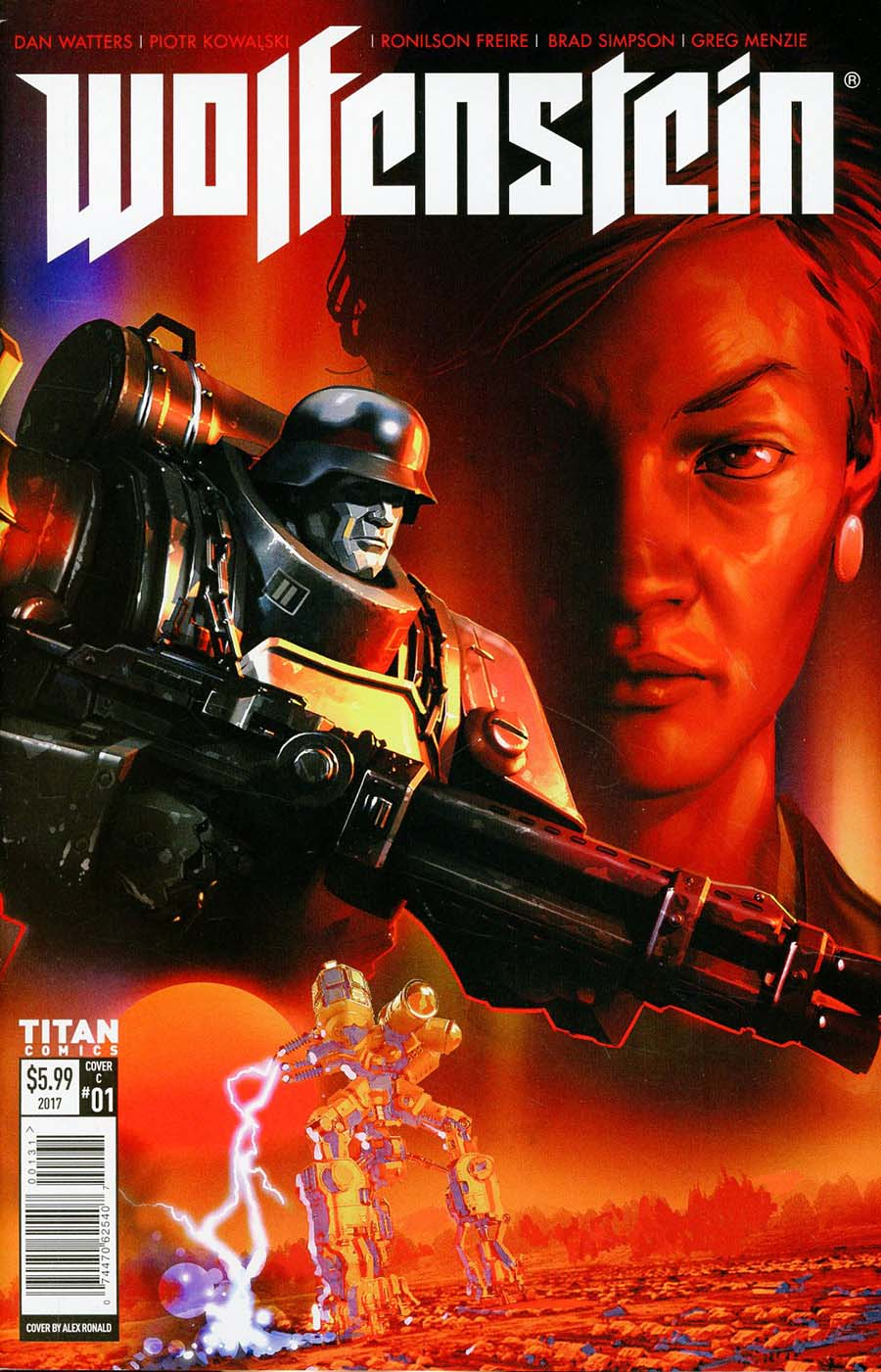 Wolfenstein #1 Cover C Variant Alex Ronald Cover