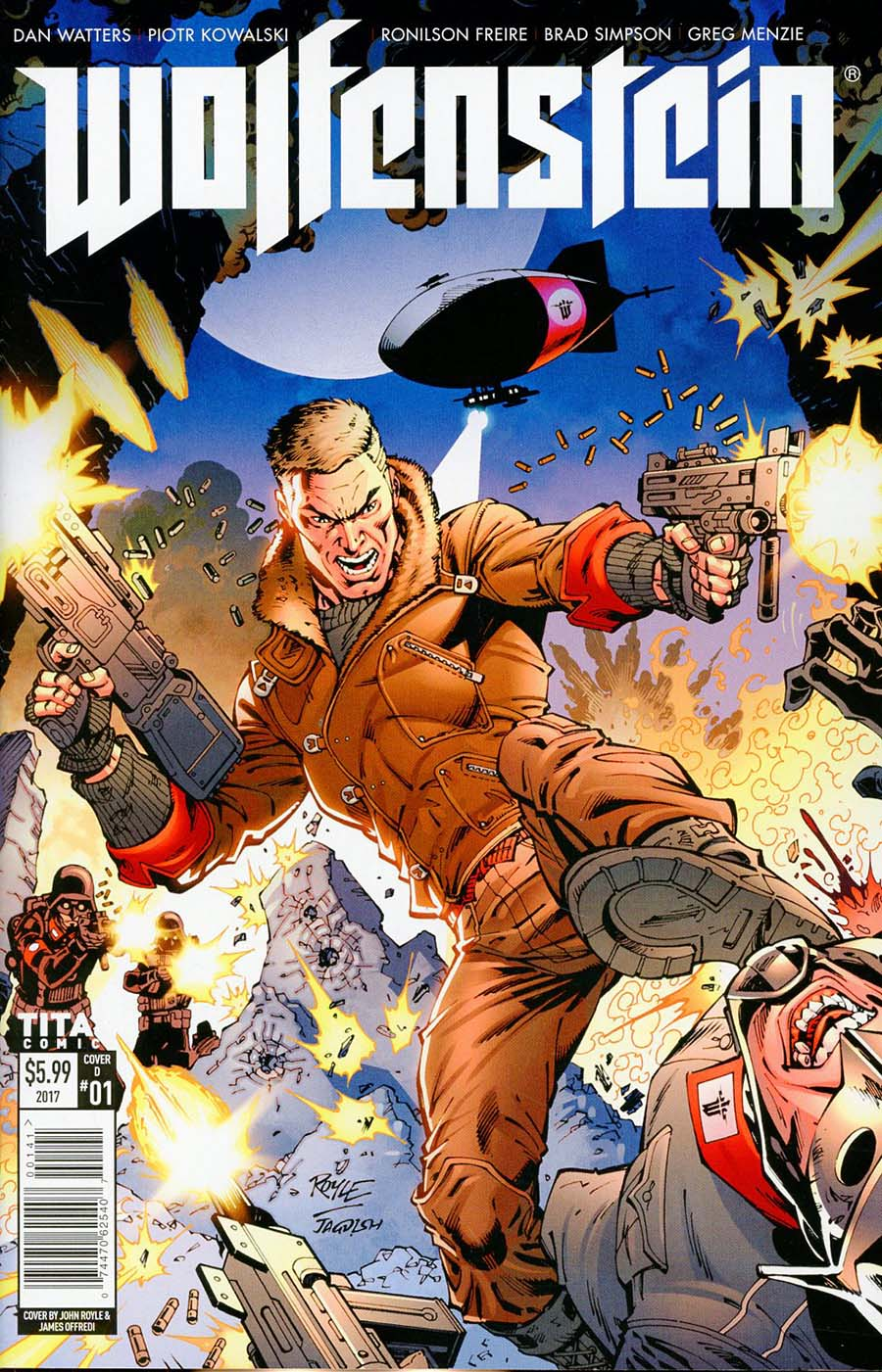 Wolfenstein #1 Cover D Variant John Royle Cover