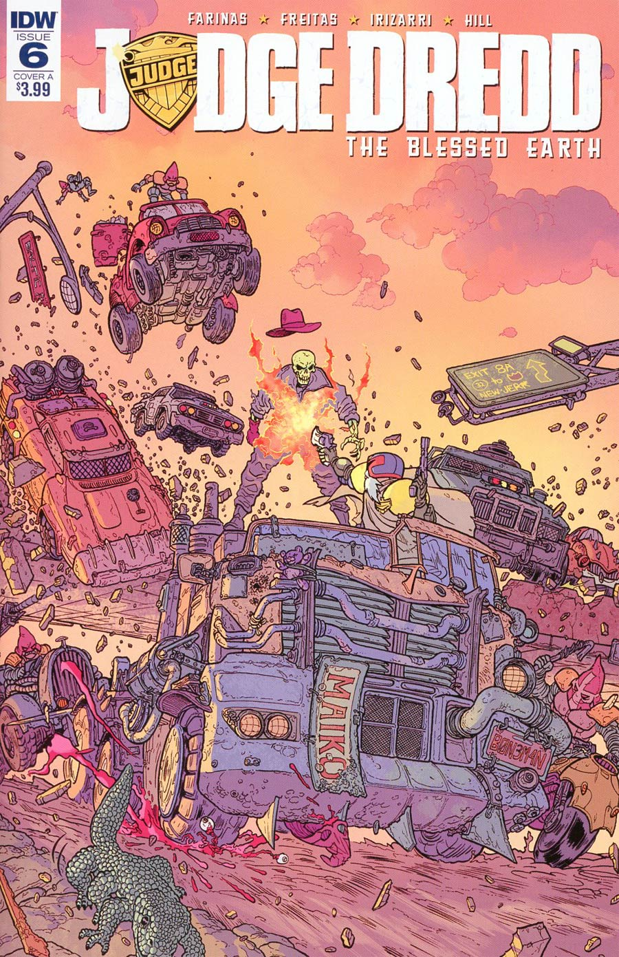 Judge Dredd Blessed Earth #6 Cover A Regular Ulises Farinas Cover