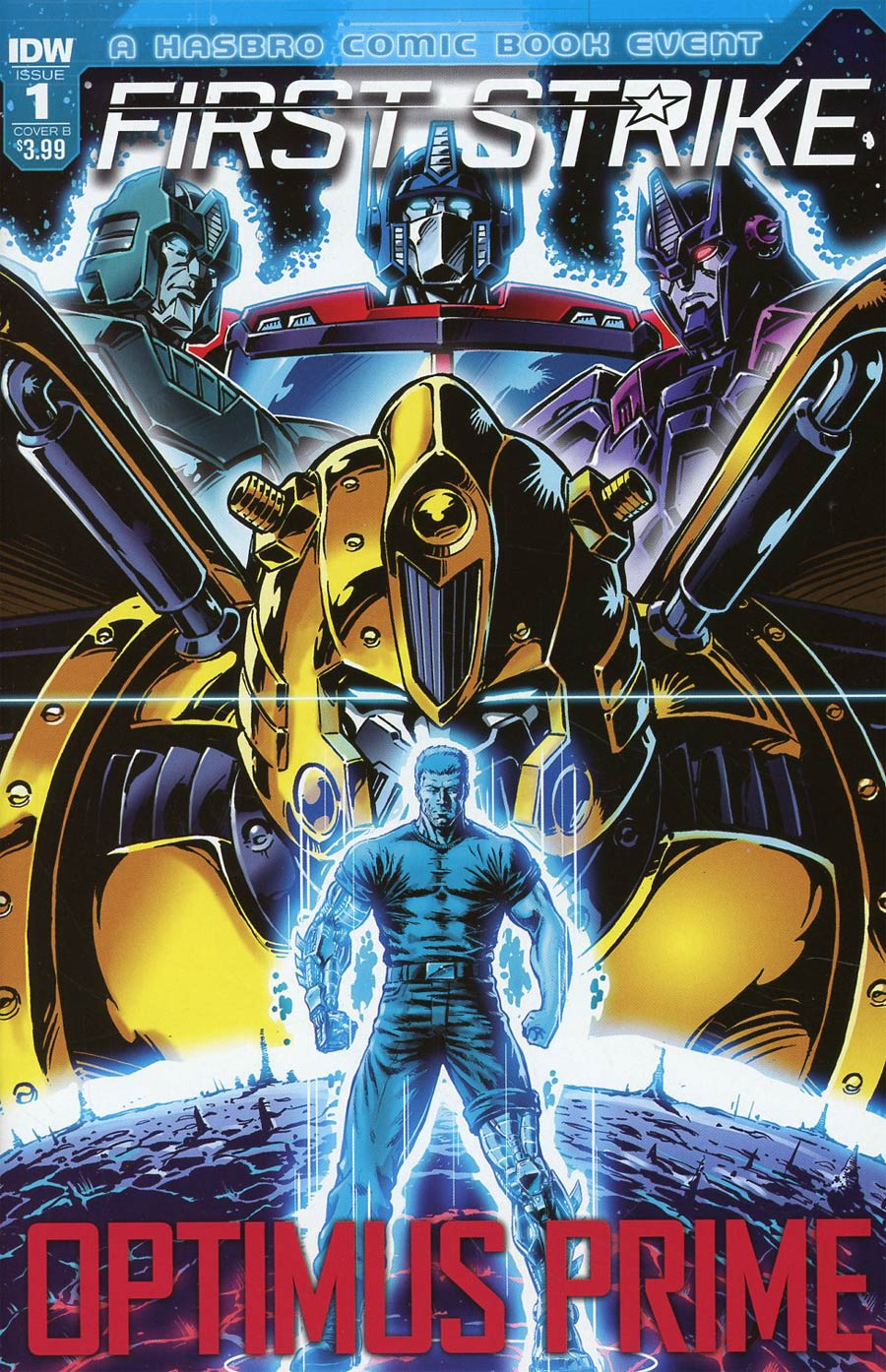 Optimus Prime First Strike #1 Cover B Variant Guido Guidi Cover