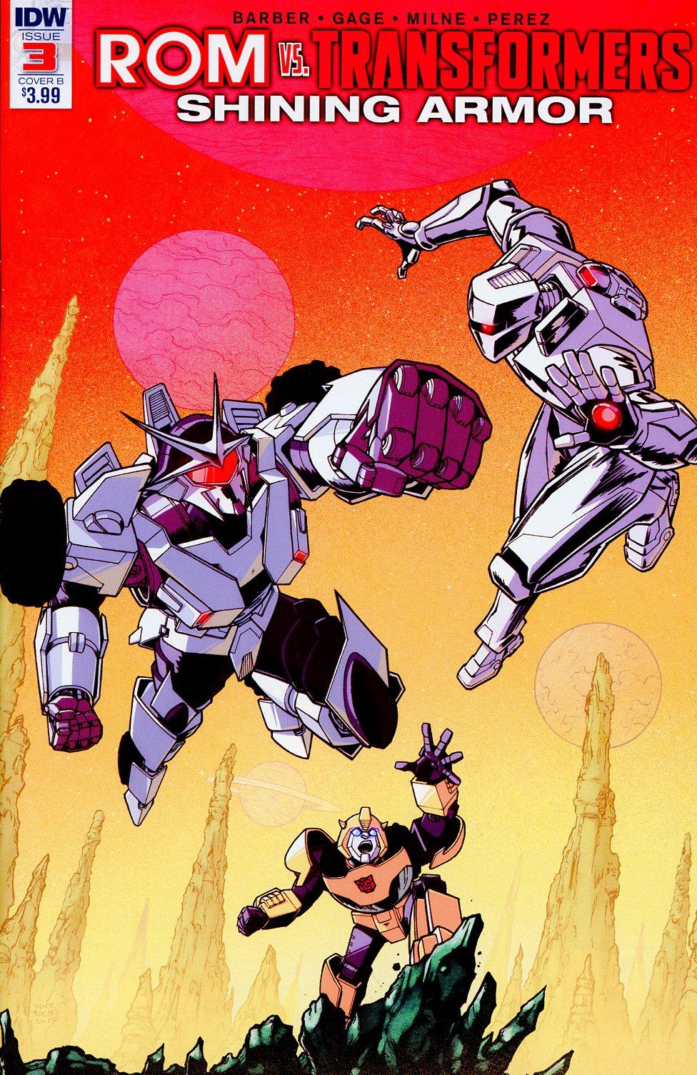 ROM vs Transformers Shining Armor #3 Cover B Variant Nick Roche Cover