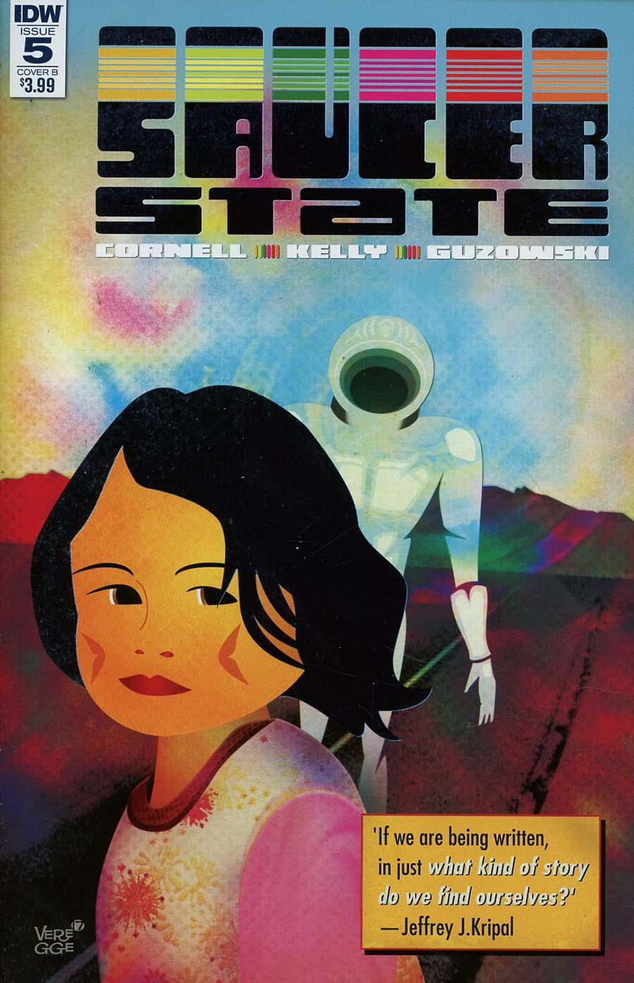 Saucer State #5 Cover B Variant Jeffrey Veregge Cover