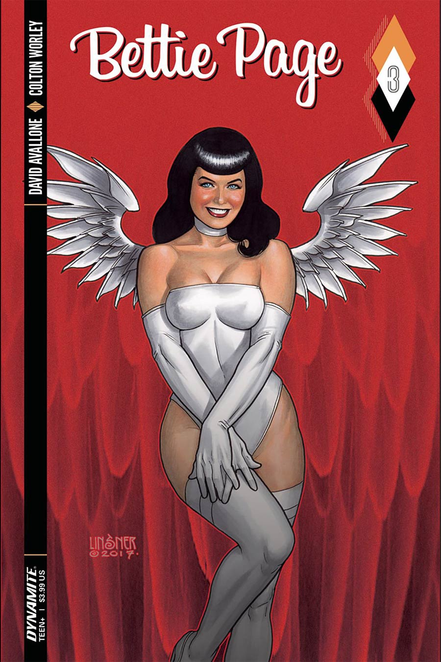 Bettie Page #3 Cover A Regular Joseph Michael Linsner Cover