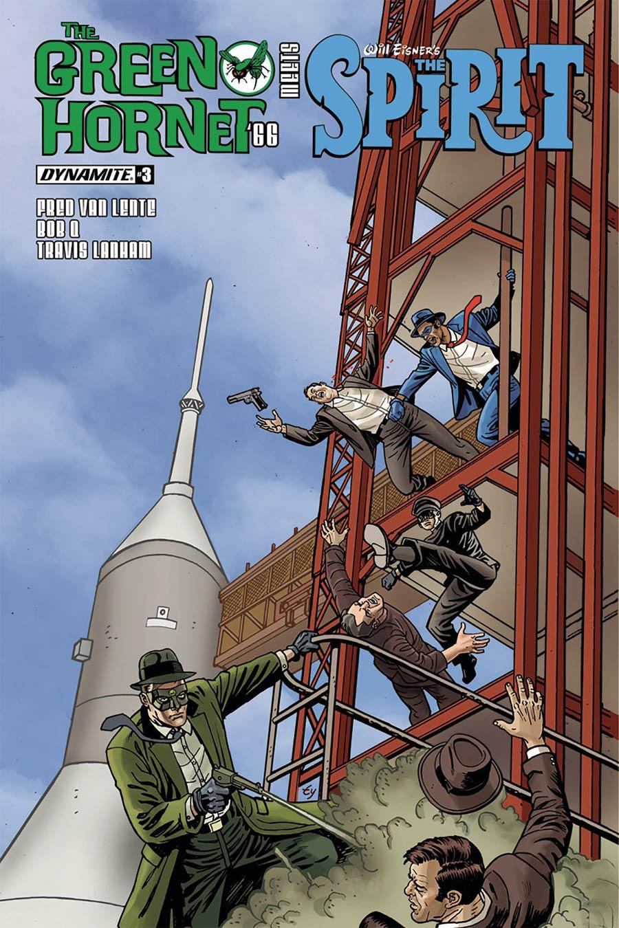 Green Hornet 66 Meets The Spirit #3 Cover A Regular Ty Templeton Cover