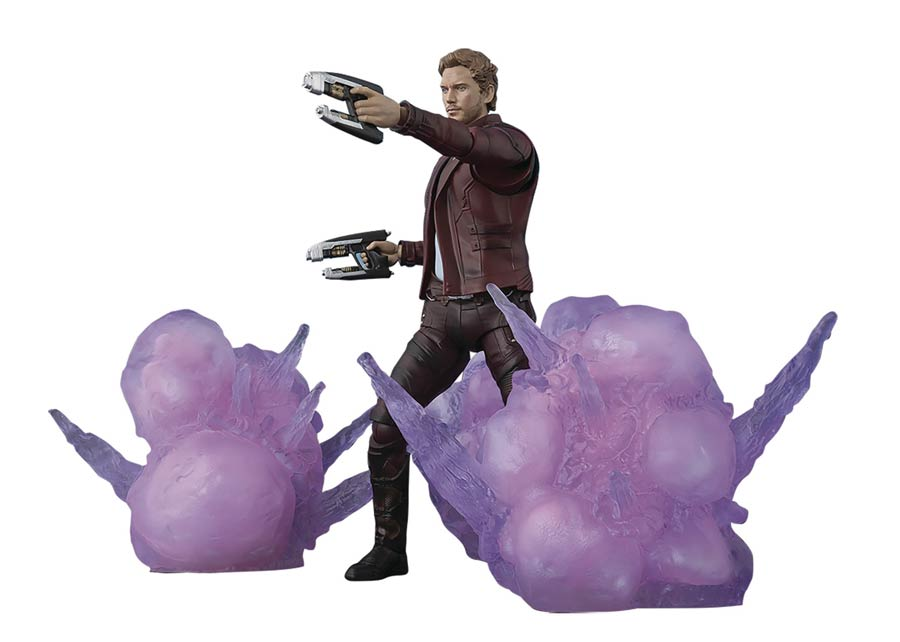 Marvel S. H. Figuarts - Guardians Of The Galaxy Vol. 2 - Star-Lord & Explosion Set Action Figure
