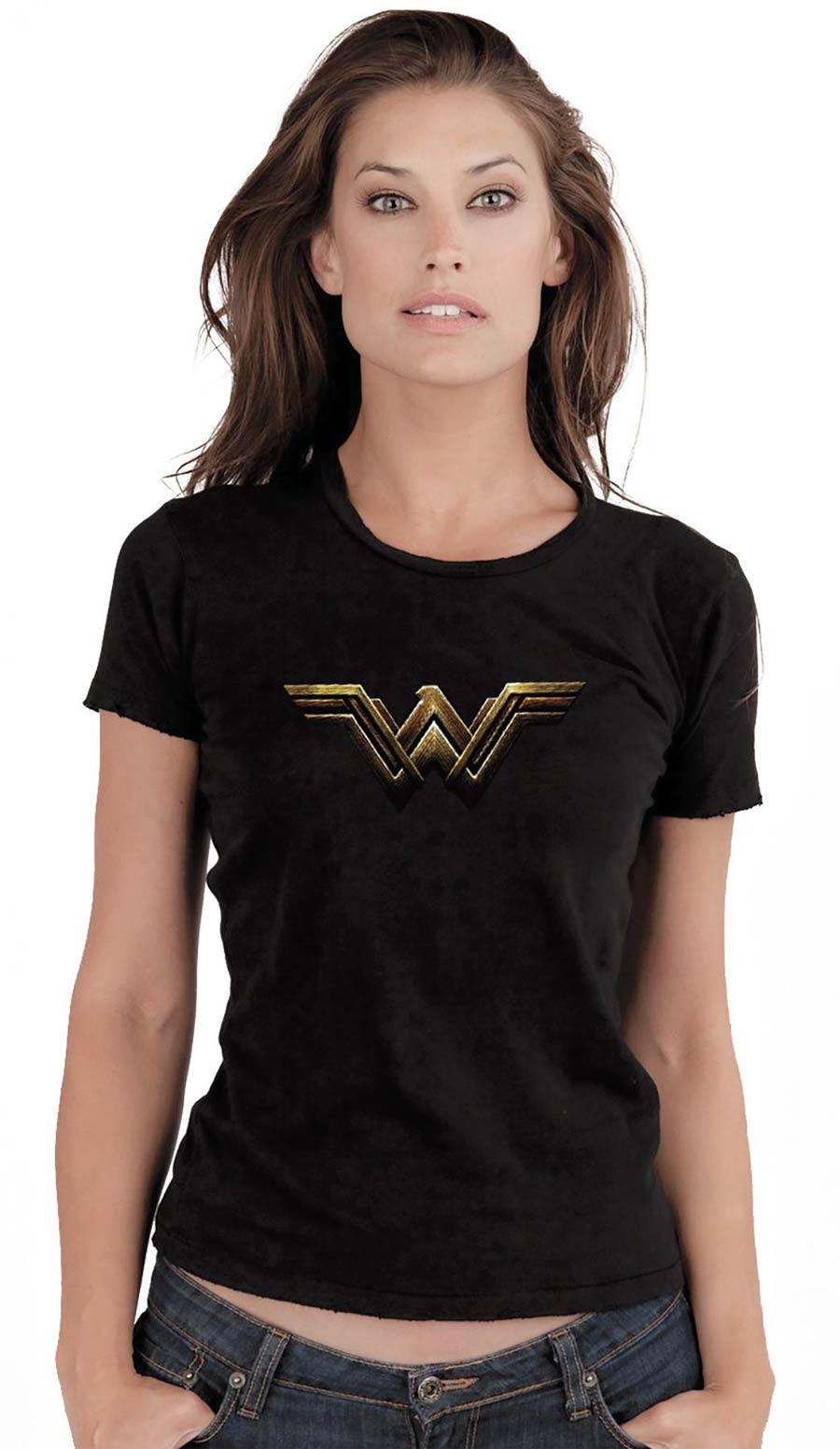 Wonder Woman Fade Symbol Womens T-Shirt Large