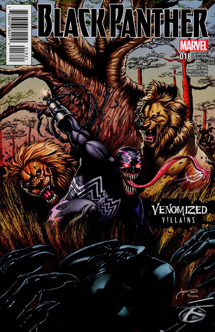 Black Panther Vol 6 #18 Cover C Variant Joyce Chin Venomized Klaw Cover