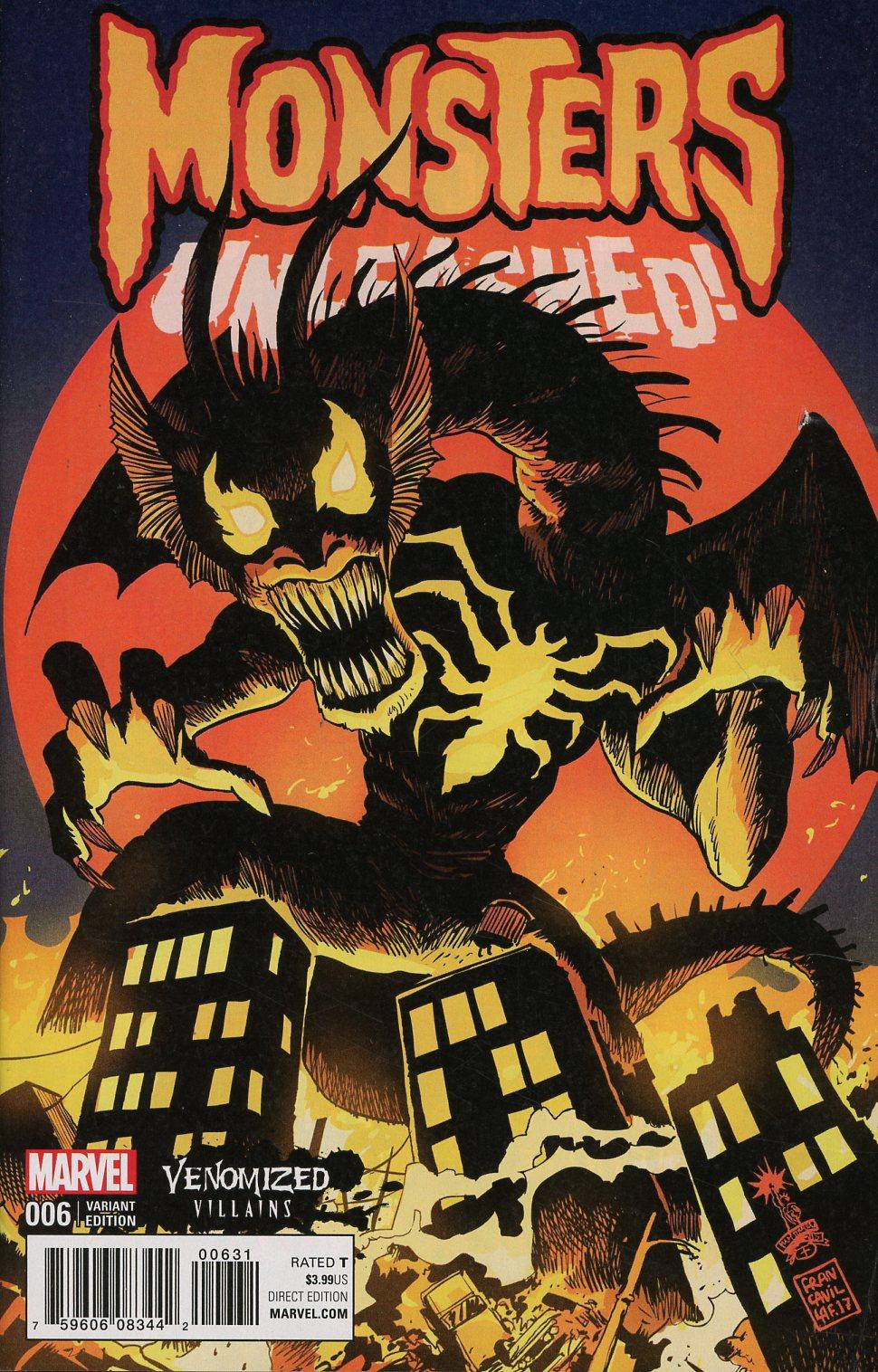 Monsters Unleashed Vol 2 #6 Cover B Variant Francesco Francavilla Venomized Fin Fang Foom Cover