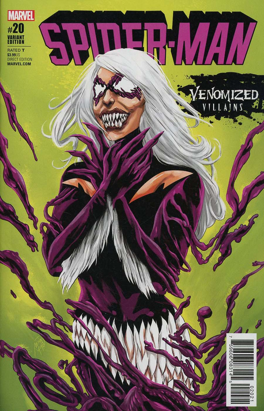 Spider-Man Vol 2 #20 Cover B Variant Ming Doyle Venomized Black Cat Cover