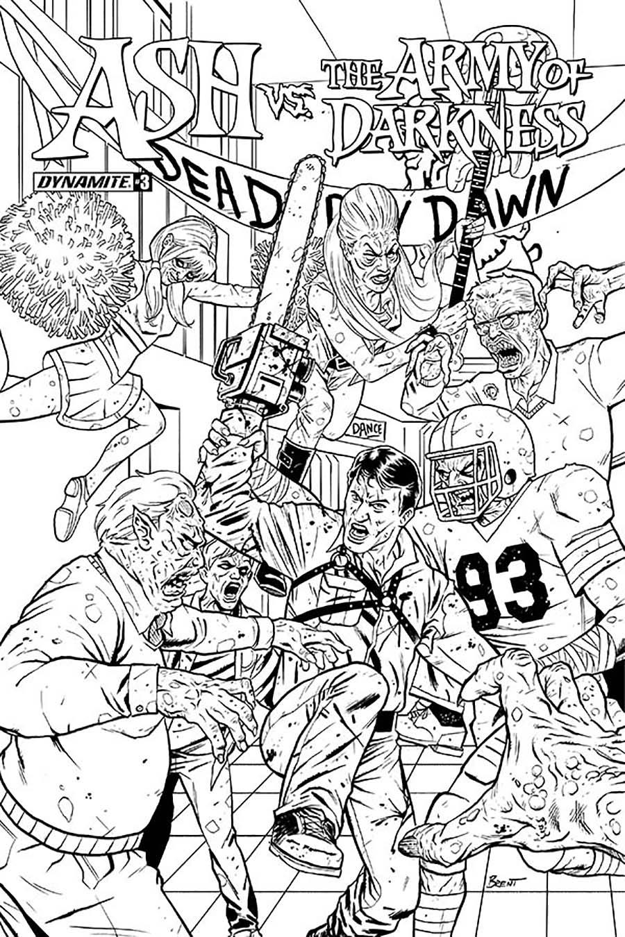Ash vs The Army Of Darkness #3 Cover E Incentive Brent Schoonover Black & White Cover