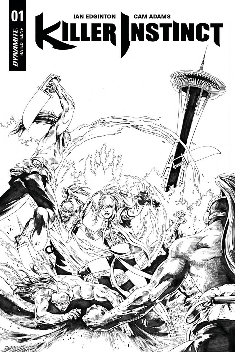 Killer Instinct Vol 2 #1 Cover G Incentive Jonathan Lau Black & White Cover