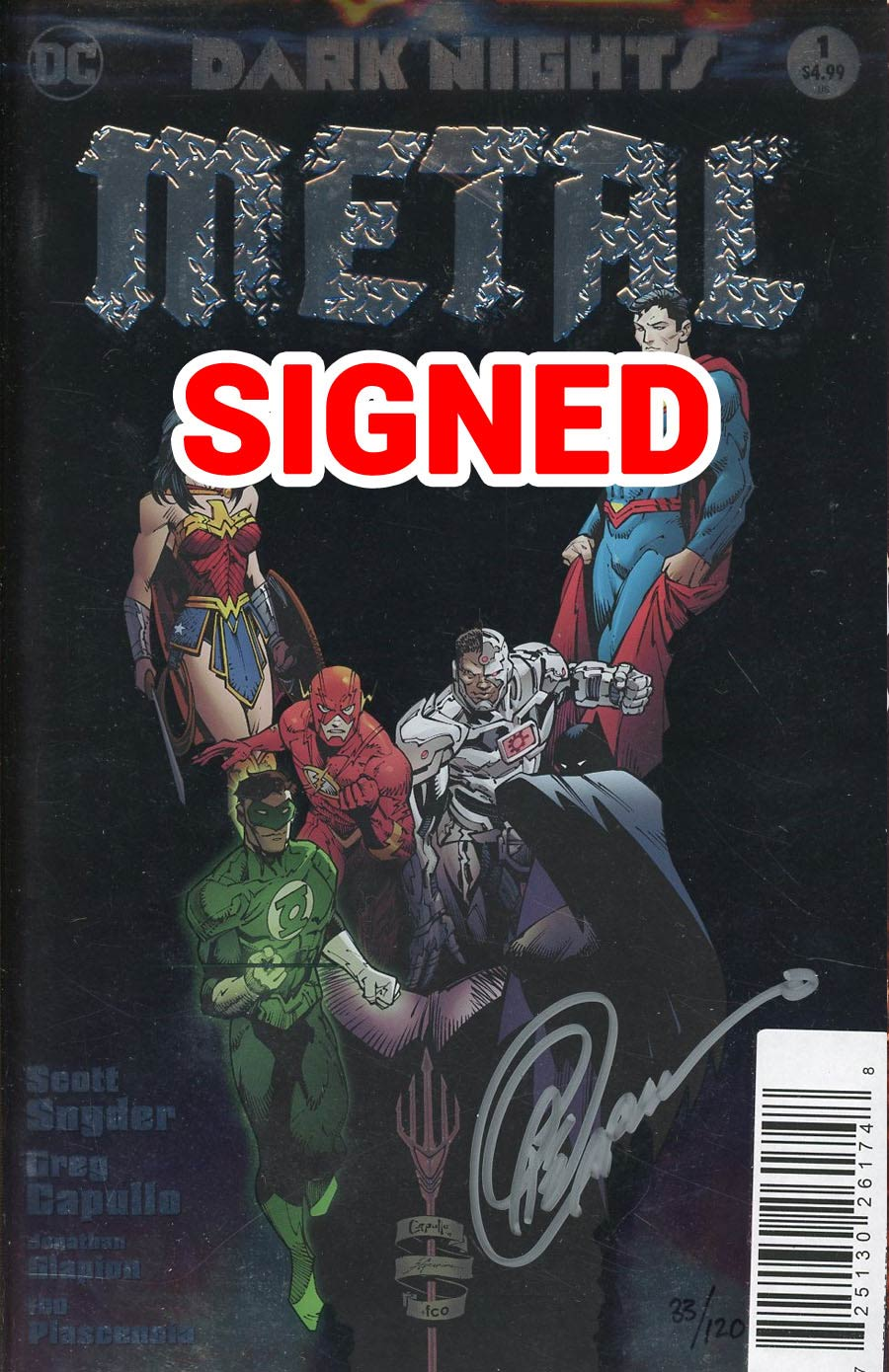 Dark Nights Metal #1 Cover H DF Signed By Greg Capullo