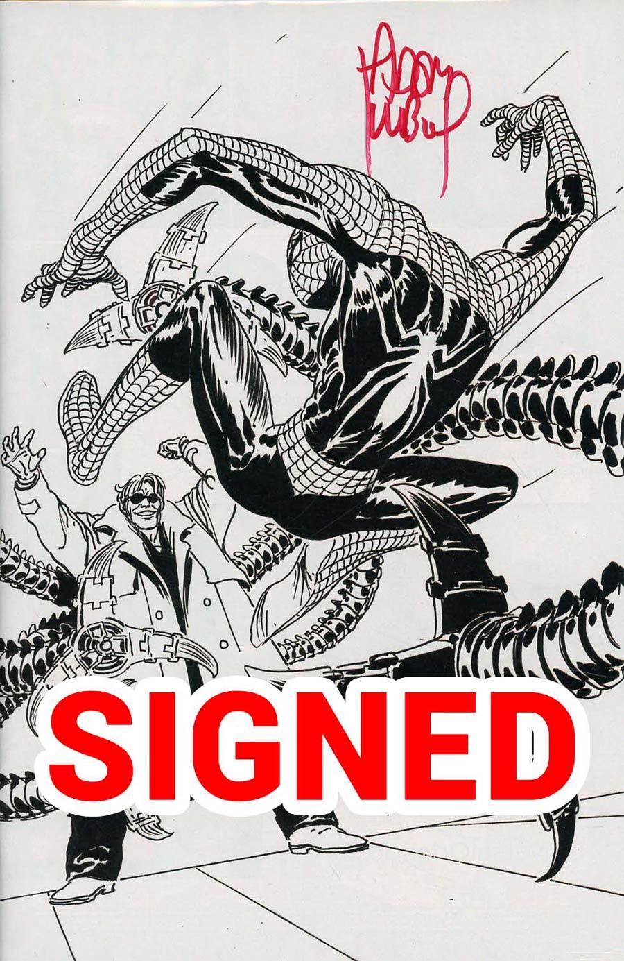 Peter Parker Spectacular Spider-Man #1 Cover Q DF Ultra-Rare Adam Kubert Black & White Variant Cover Signed By Adam Kubert