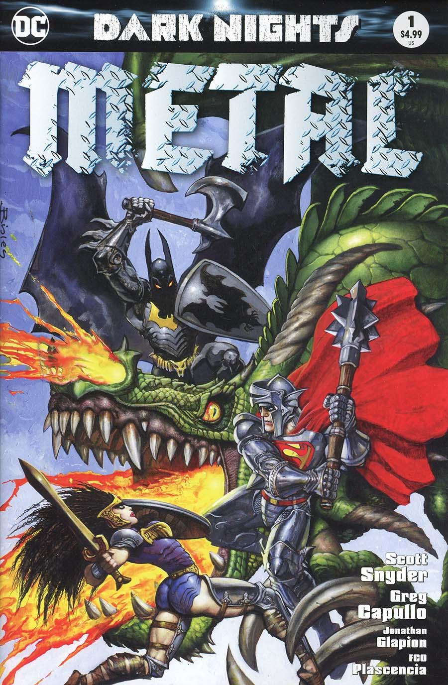 Dark Nights Metal #1  Midtown Exclusive Simon Bisley Variant Cover