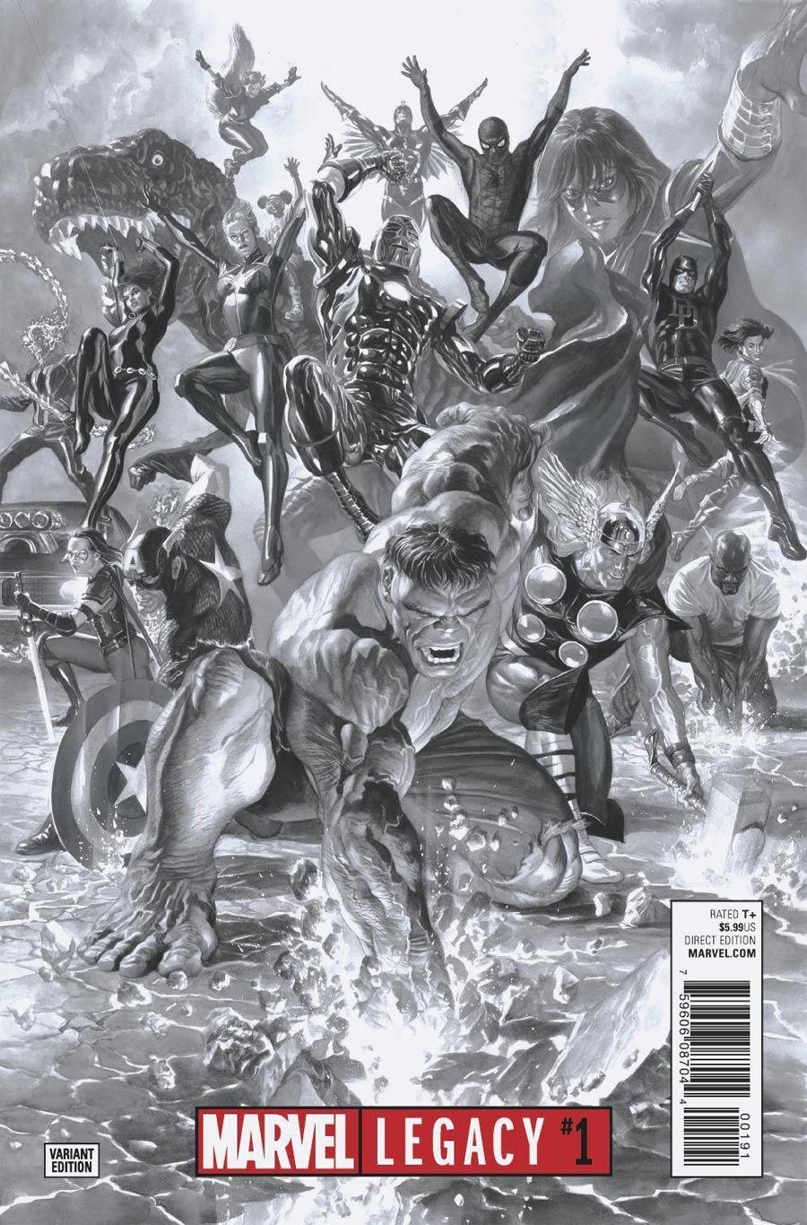 Marvel Legacy #1 Cover J Incentive Alex Ross Sketch Cover