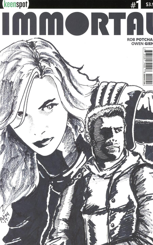 Immortal #1 Cover D Incentive Rob Potchak Sketch Variant Cover