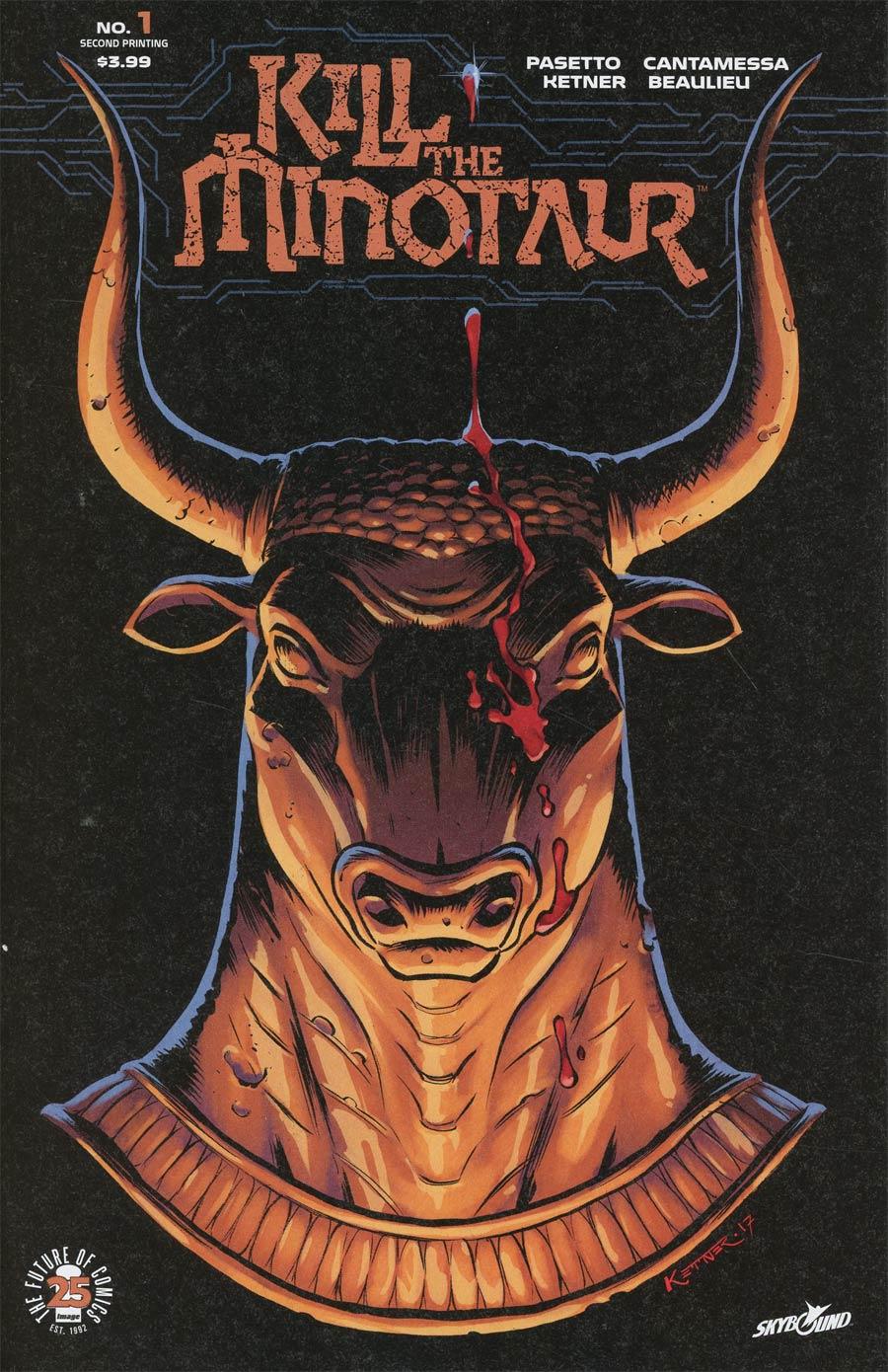 Kill The Minotaur #1 Cover B 2nd Ptg Lukas Ketner Variant Cover