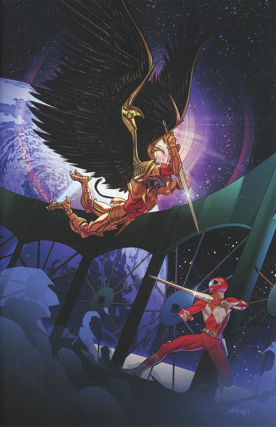 Mighty Morphin Power Rangers (BOOM Studios) #17 Cover E Incentive Dan Mora Virgin Variant Cover