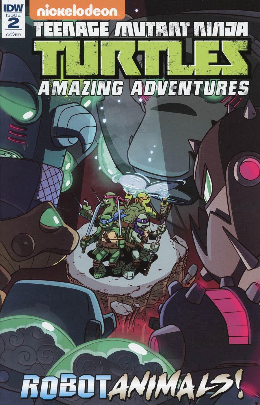 Teenage Mutant Ninja Turtles Amazing Adventures Robotanimals #2 Cover C Incentive Ryan Jampole Variant Cover