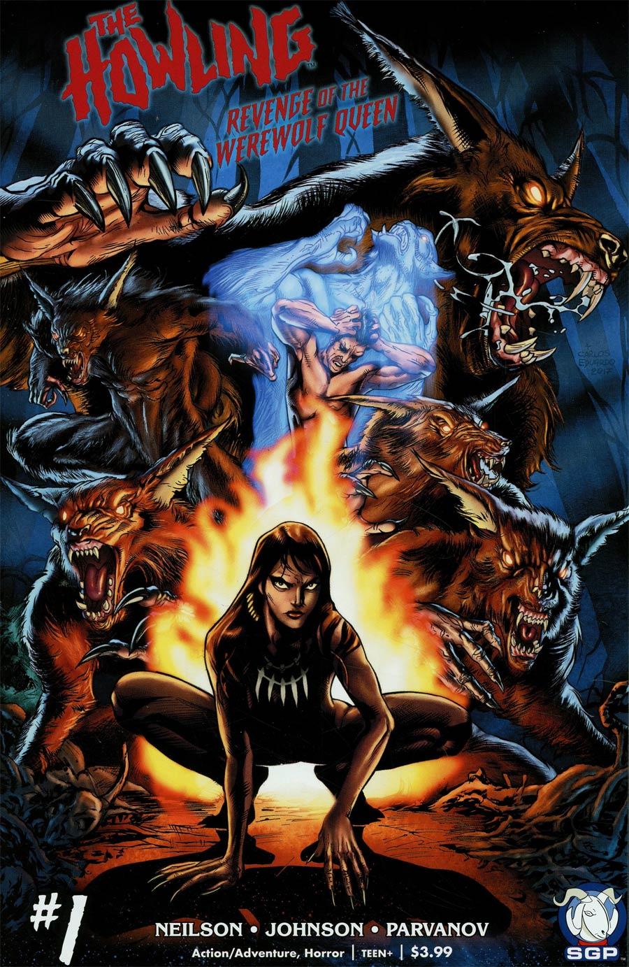 Howling Revenge Of The Werewolf Queen #1 Cover A Regular Yvel Guichet & Carlos Eduardo Blu-ray Homage Cover