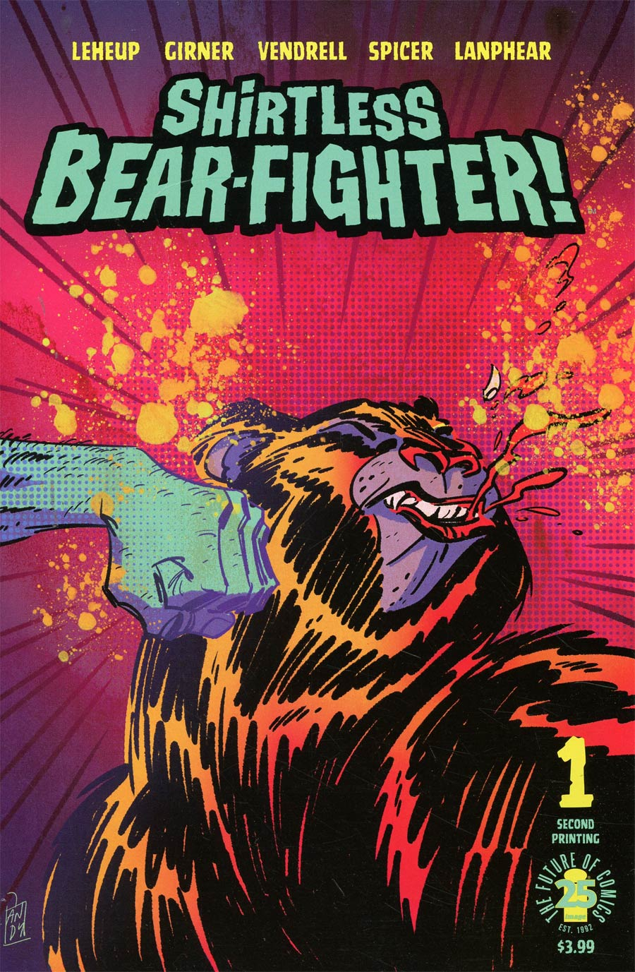 Shirtless Bear-Fighter #1 Cover H 2nd Ptg Andrew Robinson Variant Cover