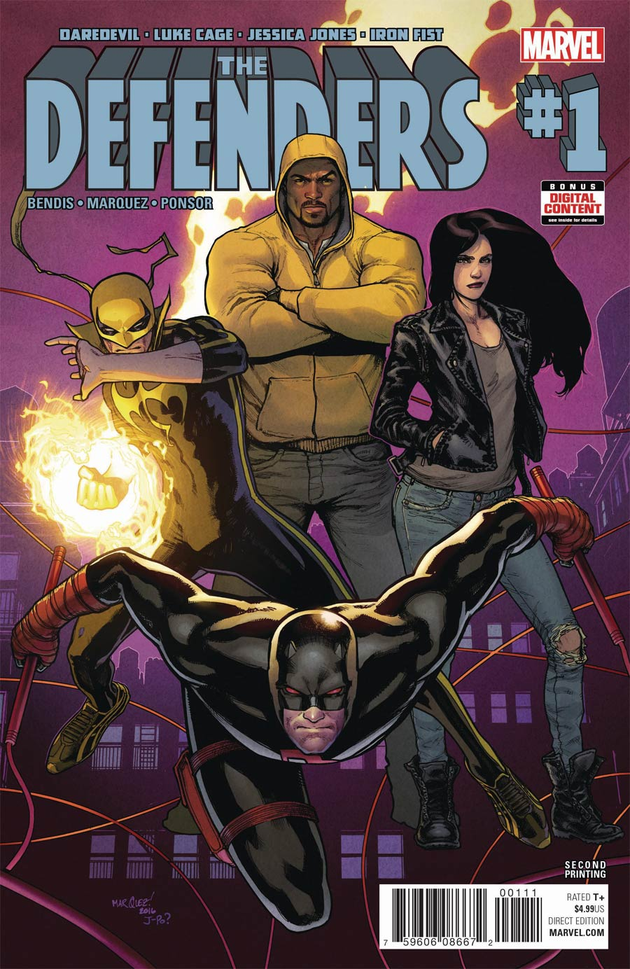 Defenders Vol 5 #1 Cover I 2nd Ptg David Marquez Variant Cover