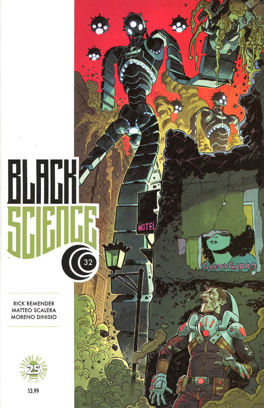 Black Science #32 Cover B Variant Mike Hawthorne Cover