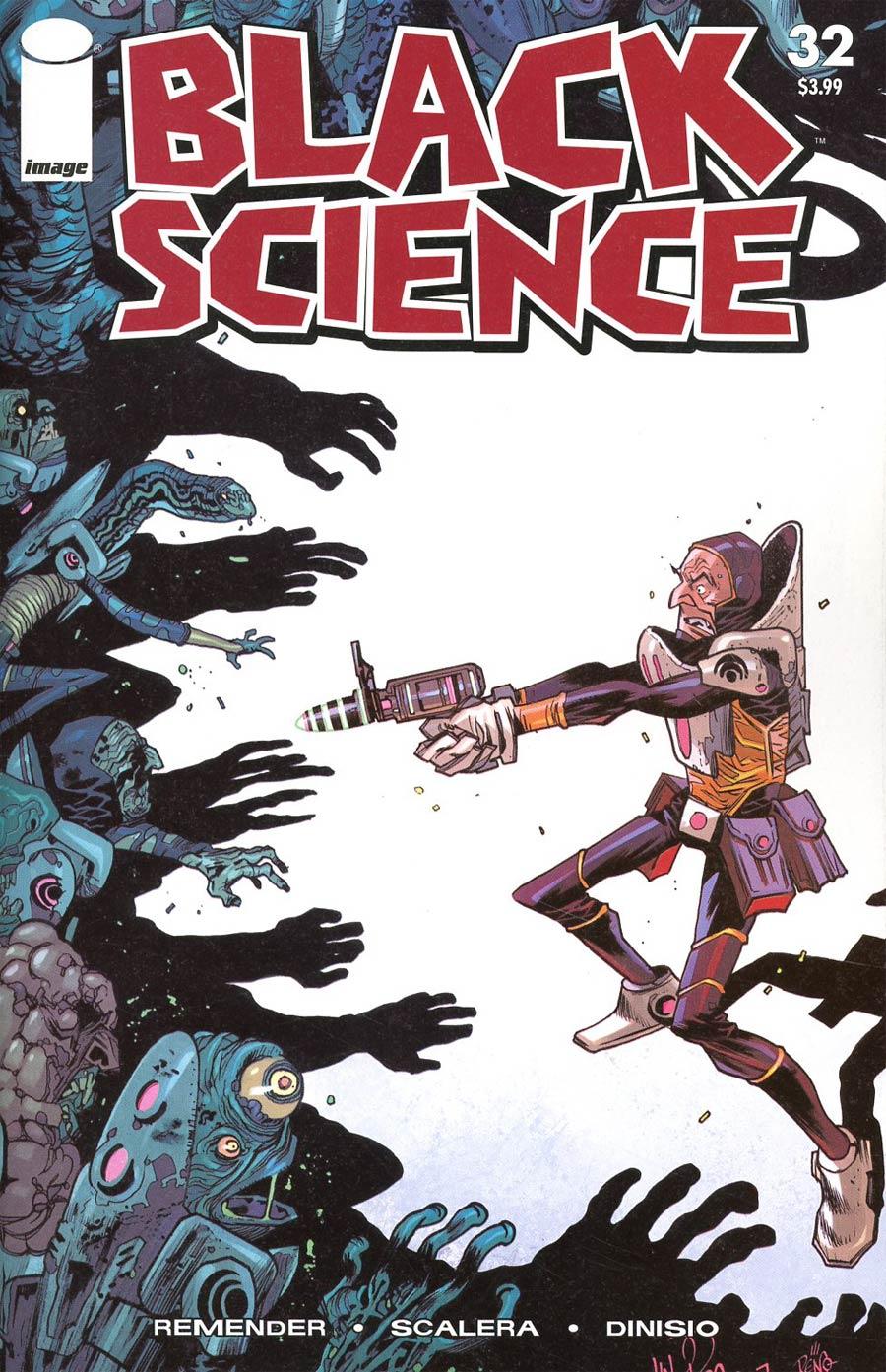 Black Science #32 Cover C Variant James Harren Walking Dead 5 Tribute Color Cover
